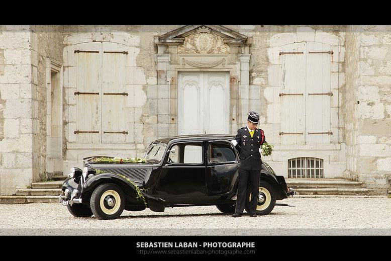 photographe mariage grenoble vielle voiture